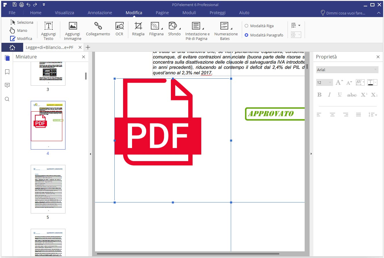 modificare i PDF 6