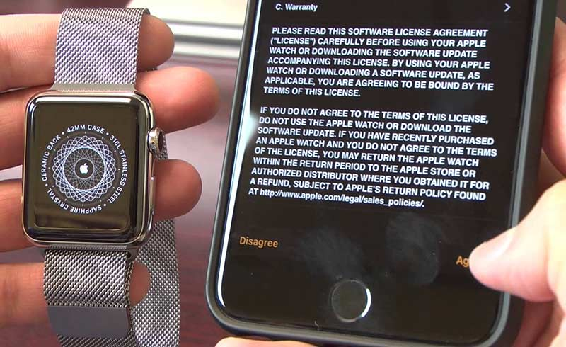 backup di Apple Watch