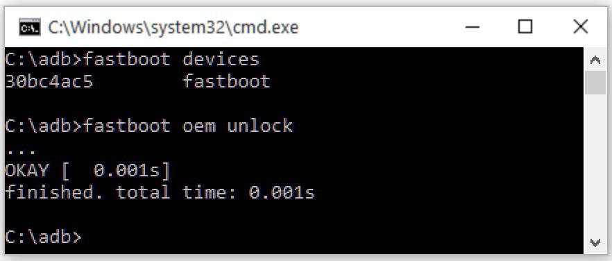 sbloccare il bootloader su OnePlus 6 adb fastboot