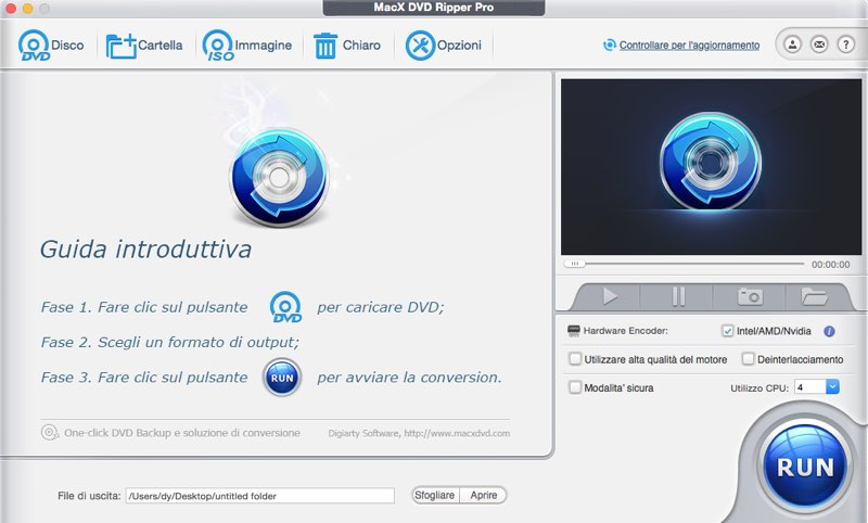 convertire DVD in MP4 guida
