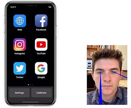 controllare iphone con occhi