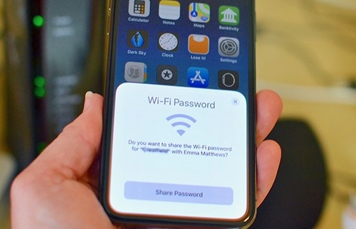 recuperare password wifi ipad
